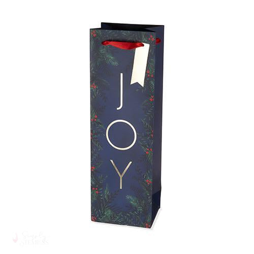 Joy Single-Bottle Wine Bag-Paper Wine Bags-Simply Stemless