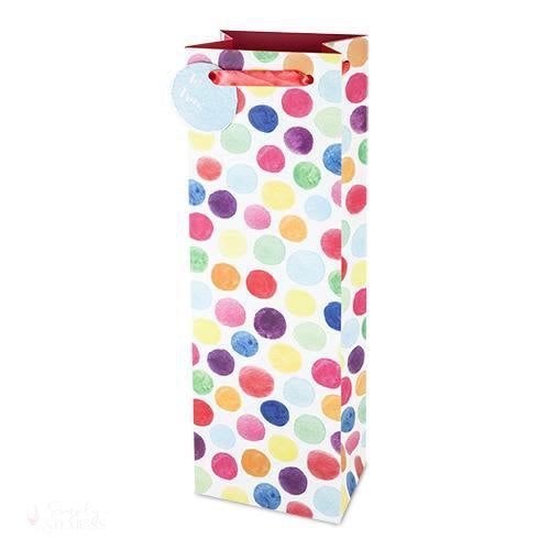 Watercolor Dot Wine bag-Paper Wine Bags-Simply Stemless