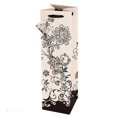 Floral Chic Wine Bag-Paper Wine Bags-Simply Stemless