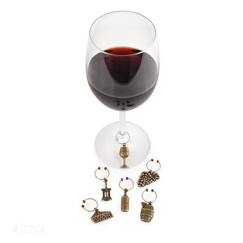 Vineyard Wine Charms-Wine Glass Charms-Simply Stemless