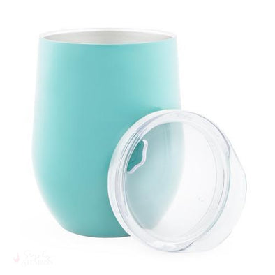 Sip & Go Stemless Wine Tumbler - Light Blue-Drinkware-Simply Stemless