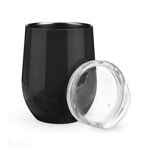 Sip & Go Stemless Wine Tumbler - Black-Drinkware-Simply Stemless