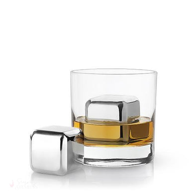 Glacier Rocks Set of 2 Large Stainless Steel Cubes-Temperature Regulating-Simply Stemless