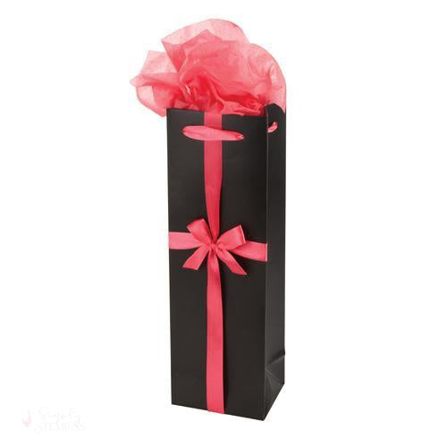 Black and Pink Wine Gift Bag-Paper Wine Bags-Simply Stemless