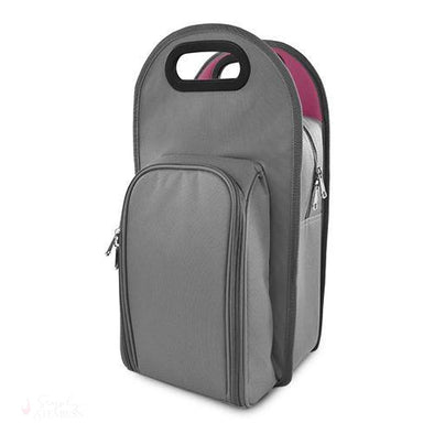 Grey Metropolitan 2-Bottle Tote-Insulated Carriers-Simply Stemless