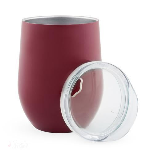Sip & Go Stemless Wine Tumbler - Berry-Drinkware-Simply Stemless