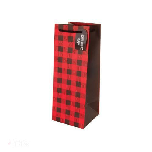 Winter Plaid 1.5L Wine Bag-Wine Gift Bags-Simply Stemless