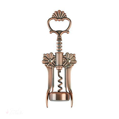 Brushed Copper Filigree Winged Corkscrew-Corkscrews-Simply Stemless