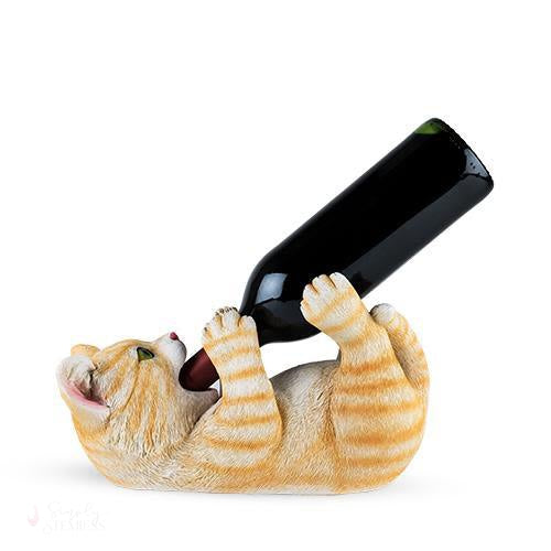 Tippler Tabby Cat Bottle Holder-Bottle Holders-Simply Stemless