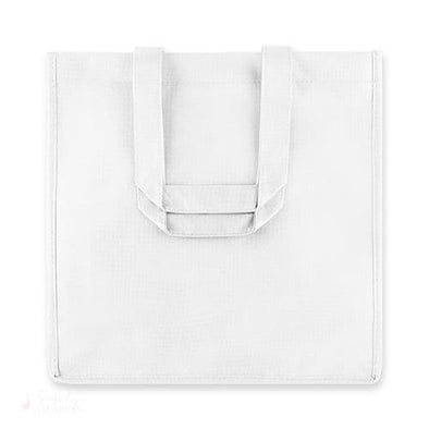 6 Bottle White Non Woven Tote-Wine Totes-Simply Stemless