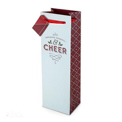 Cheer Wine Gift Bag-Paper Wine Bags-Simply Stemless