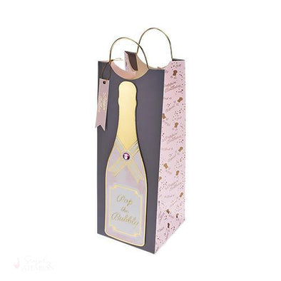 Pop the Bubbly Wine Bag-Paper Wine Bags-Simply Stemless