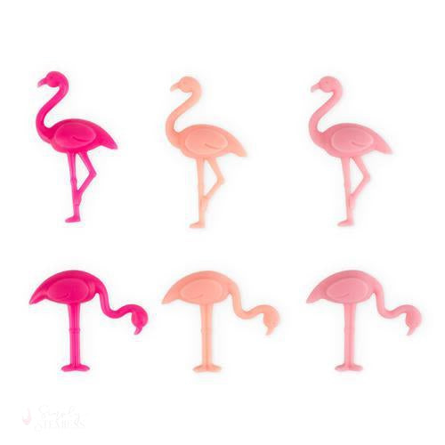 Flamingo Drink Charms-Wine Glass Charms-Simply Stemless