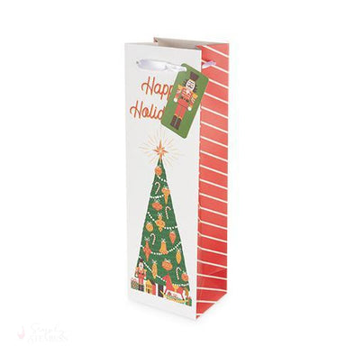 Nutcracker Dream Single-Bottle Wine Bag-Paper Wine Bags-Simply Stemless