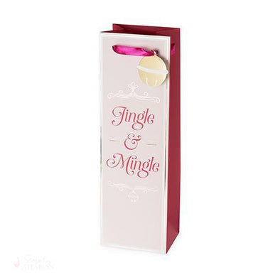 Jingle & Mingle Single-Bottle Wine Bag-Paper Wine Bags-Simply Stemless