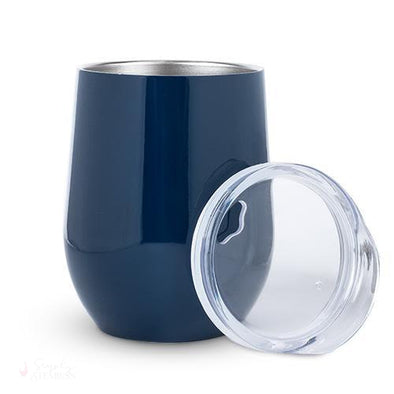 Sip & Go Stemless Wine Tumbler - Navy Blue-Drinkware-Simply Stemless