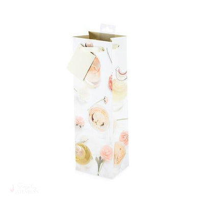 Garden Party Single-Bottle Wine Bag-Paper Wine Bags-Simply Stemless