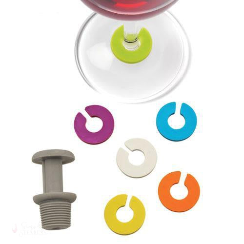 Prism: Stopper & Charm Set-Wine Glass Charms-Simply Stemless