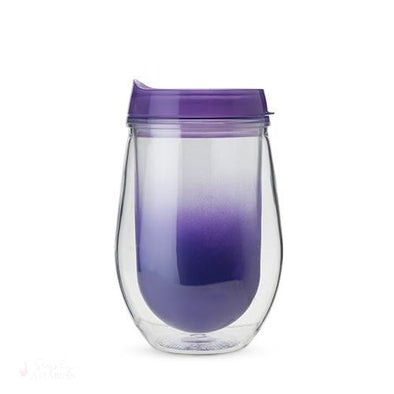 Traveler Double Walled Wine Tumbler - Purple Ombre-Drinkware-Simply Stemless