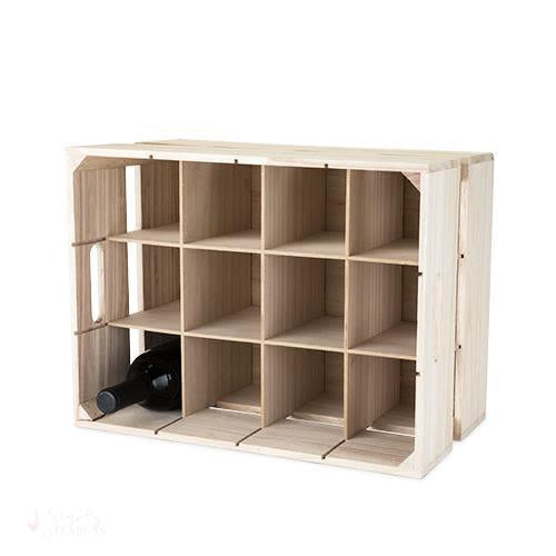 Wooden Crate Wine Rack-Bottle Holders-Simply Stemless