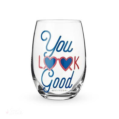 You Look Good Stemless Wine Glass-Drinkware-Simply Stemless