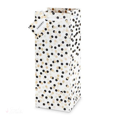 Tuxedo Dots Single-Bottle Wine Bag-Wine Gift Bags-Simply Stemless