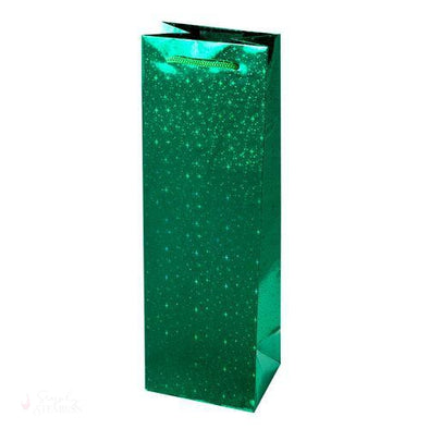 Sparkling Green Single-Bottle Wine Bag-Paper Wine Bags-Simply Stemless