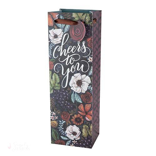 Marketplace: Vineyard Bouquet Wine Gift Bag-Paper Wine Bags-Simply Stemless