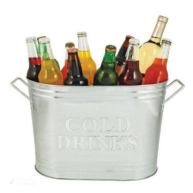 Cold Drinks Galvanized Metal Tub-Temperature Regulating-Simply Stemless