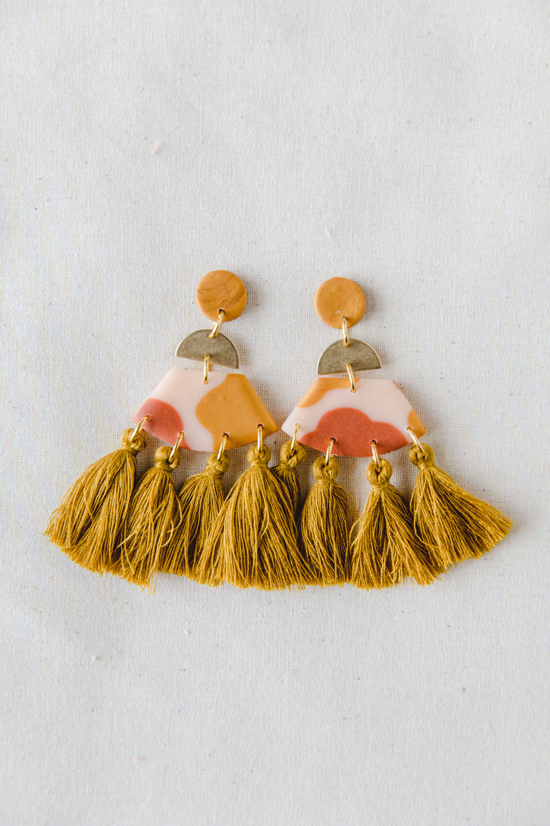 Sundance Large Tassel Dangle Earrings (desert)