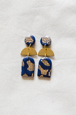 Dusk Small Dangle Earrings (navy)