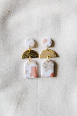Dusk Small Dangle Earrings [gold plated] (folk)