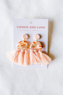 Aurora Large Tassel Earrings (peach)