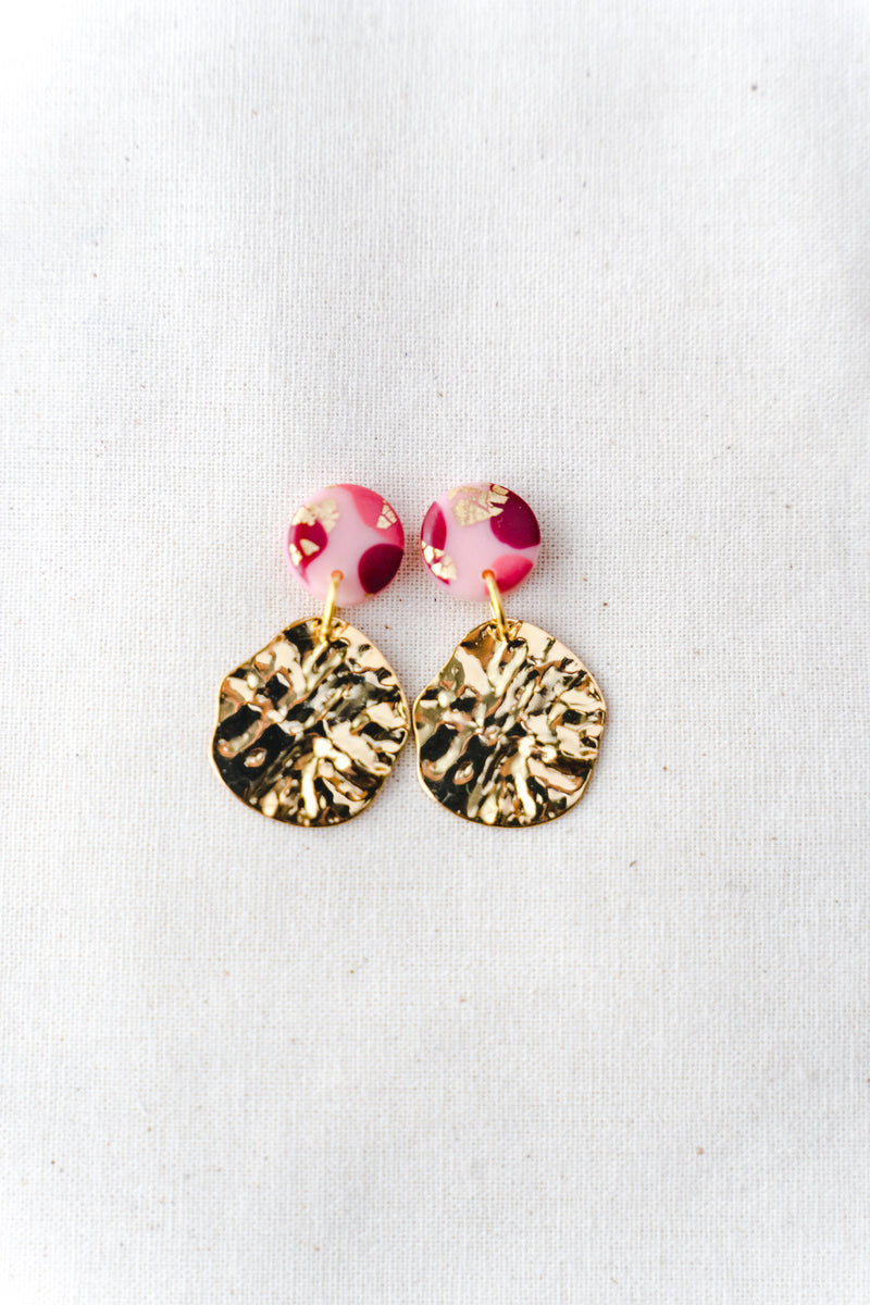 Lulu Small Dangle Earrings (festive pink)