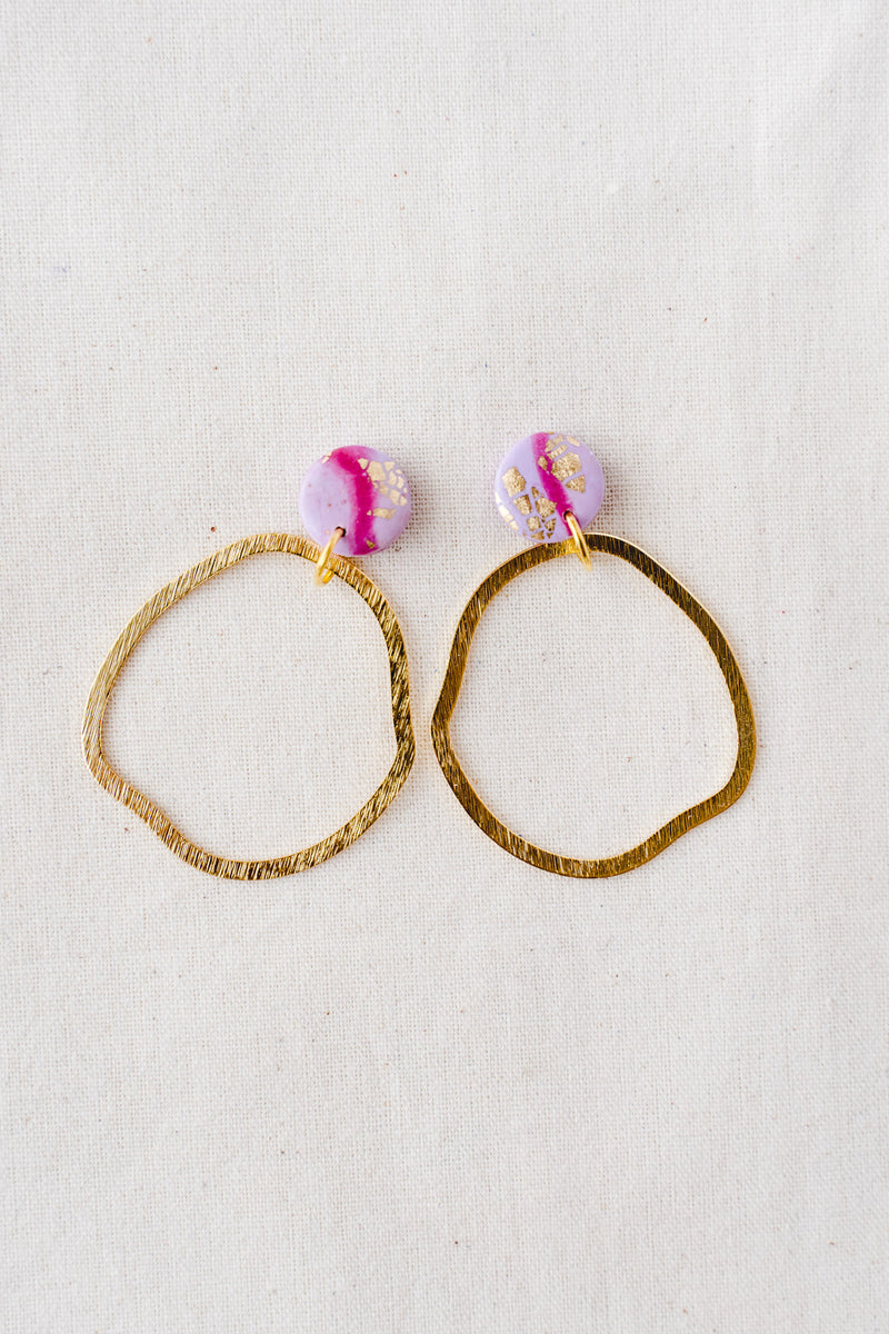 Ziggy dangle earrings (lilac watercolour)