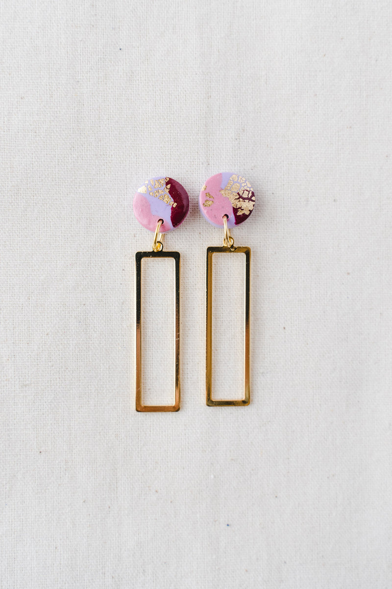 Ruby dangle earrings (lilac party)