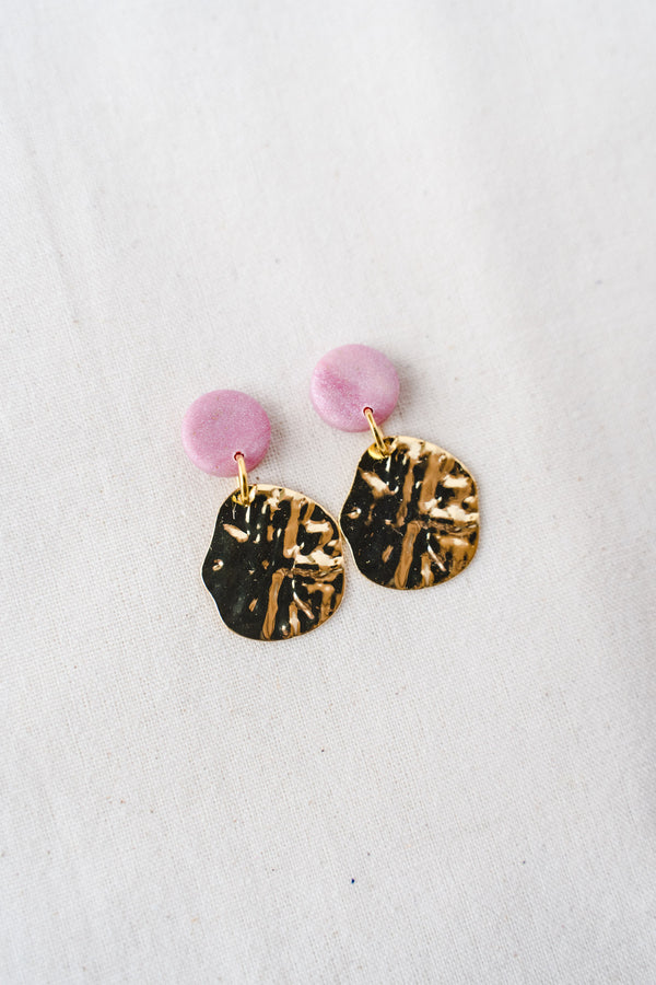 Lulu Small Dangle Earrings (pink)