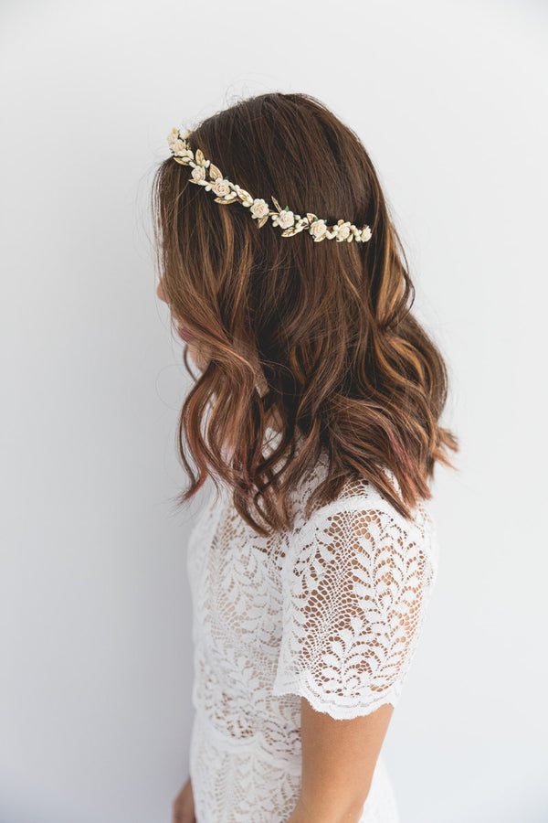 Delilah flower crown | cream