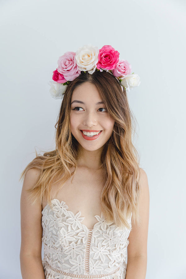 statement flower crown | mixed