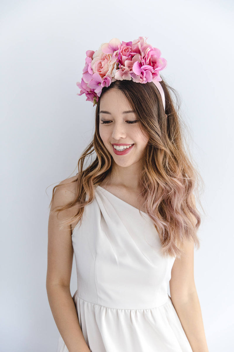 statement flower crown | pink