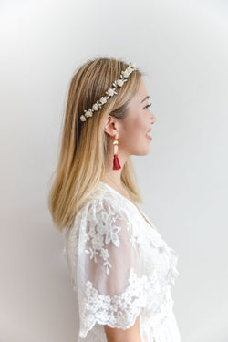 Isla flower crown | cream rose & berry