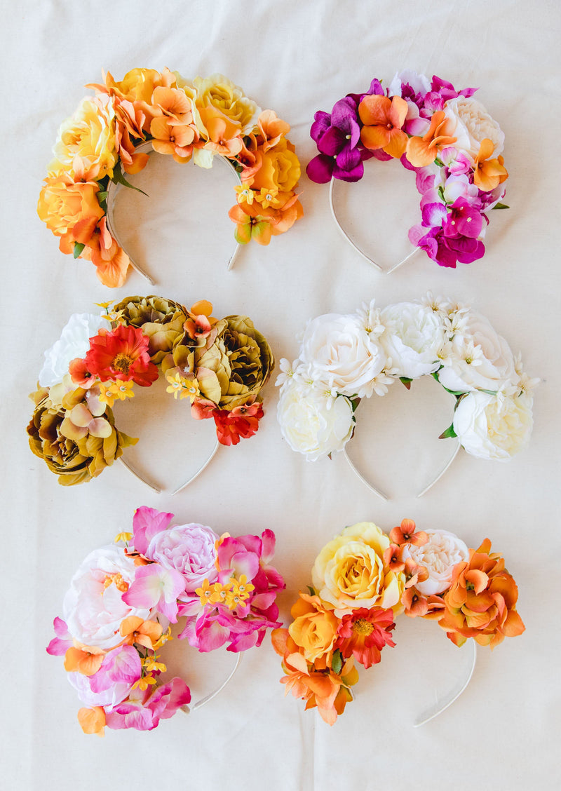 statement flower crown | yellow