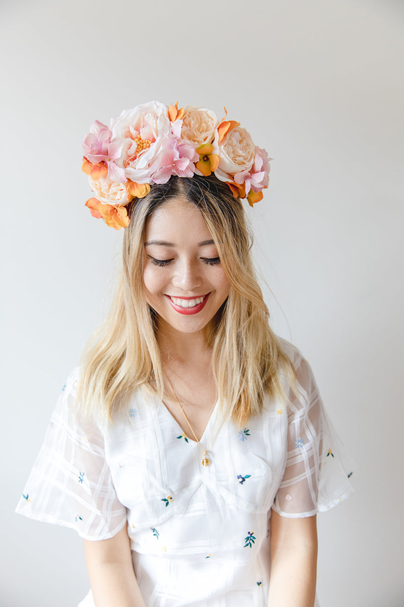 statement flower crown | colourful