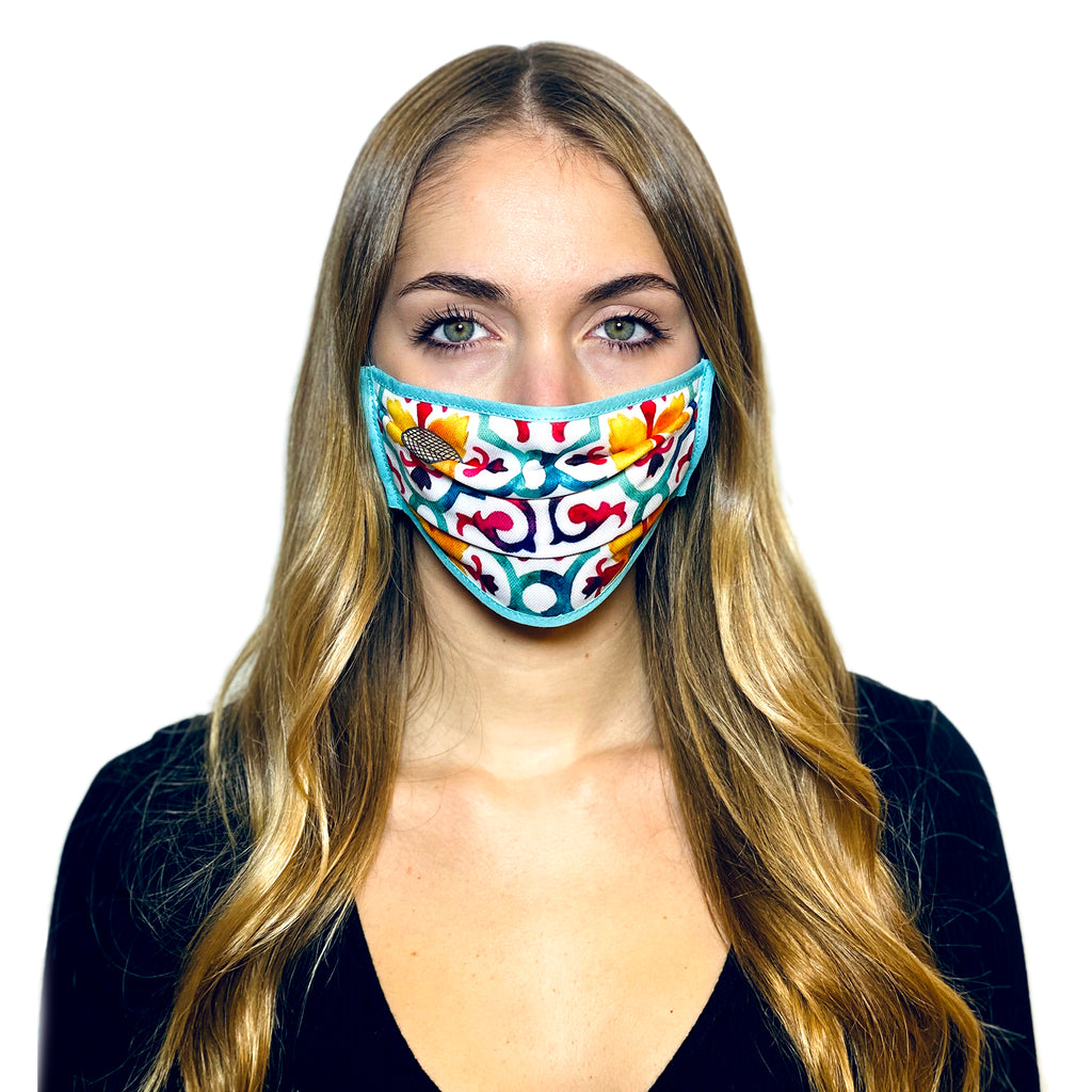 COLOURED MAJOLICA L.A.W BANDANA MASK