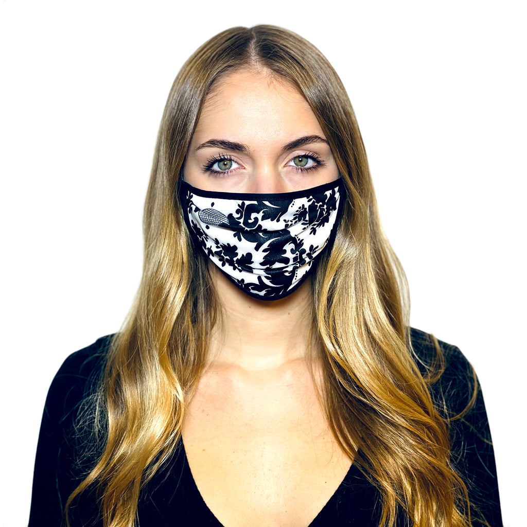 BLACK & WHITE BAROQUE L.A.W BANDANA MASK