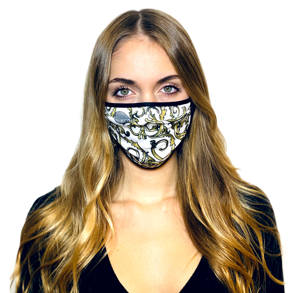 WHITE BAROQUE L.A.W BANDANA MASK