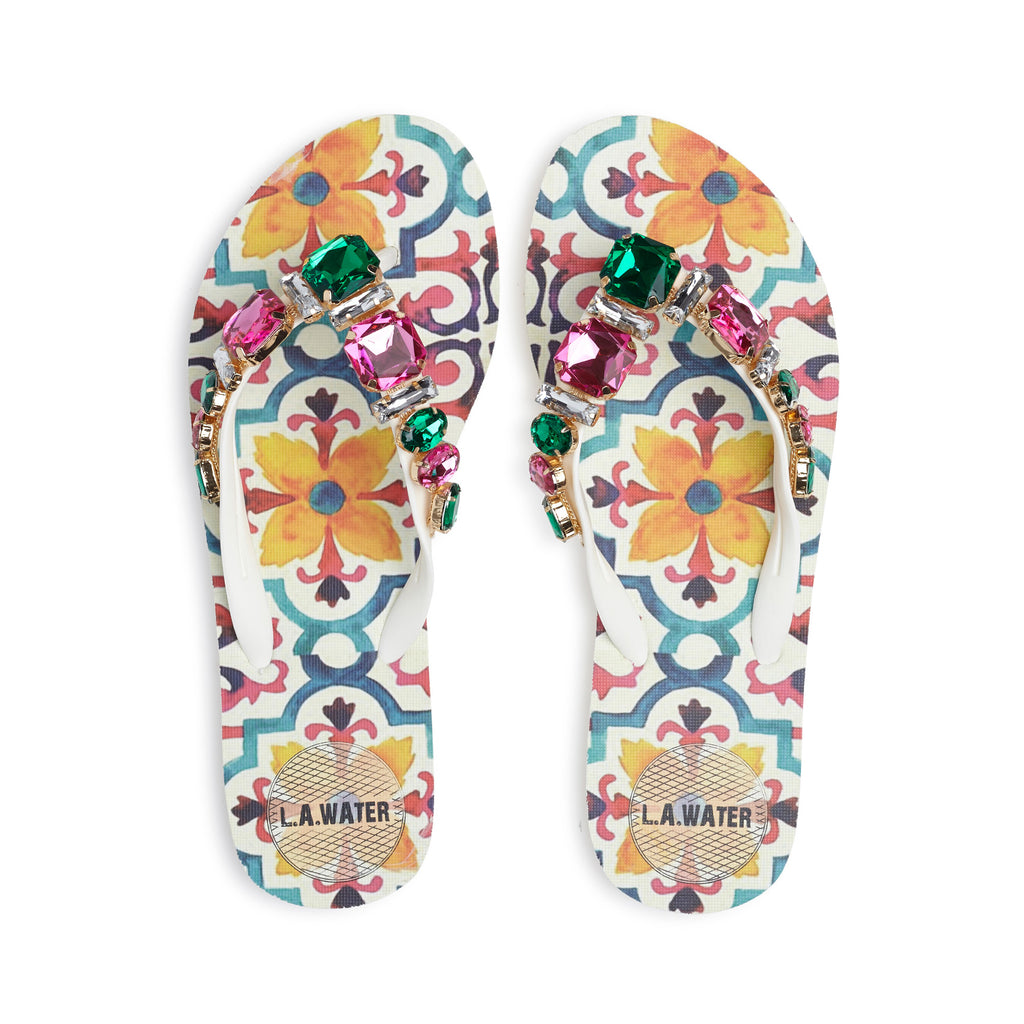 COLOURED MAJOLICA SLIPPERS