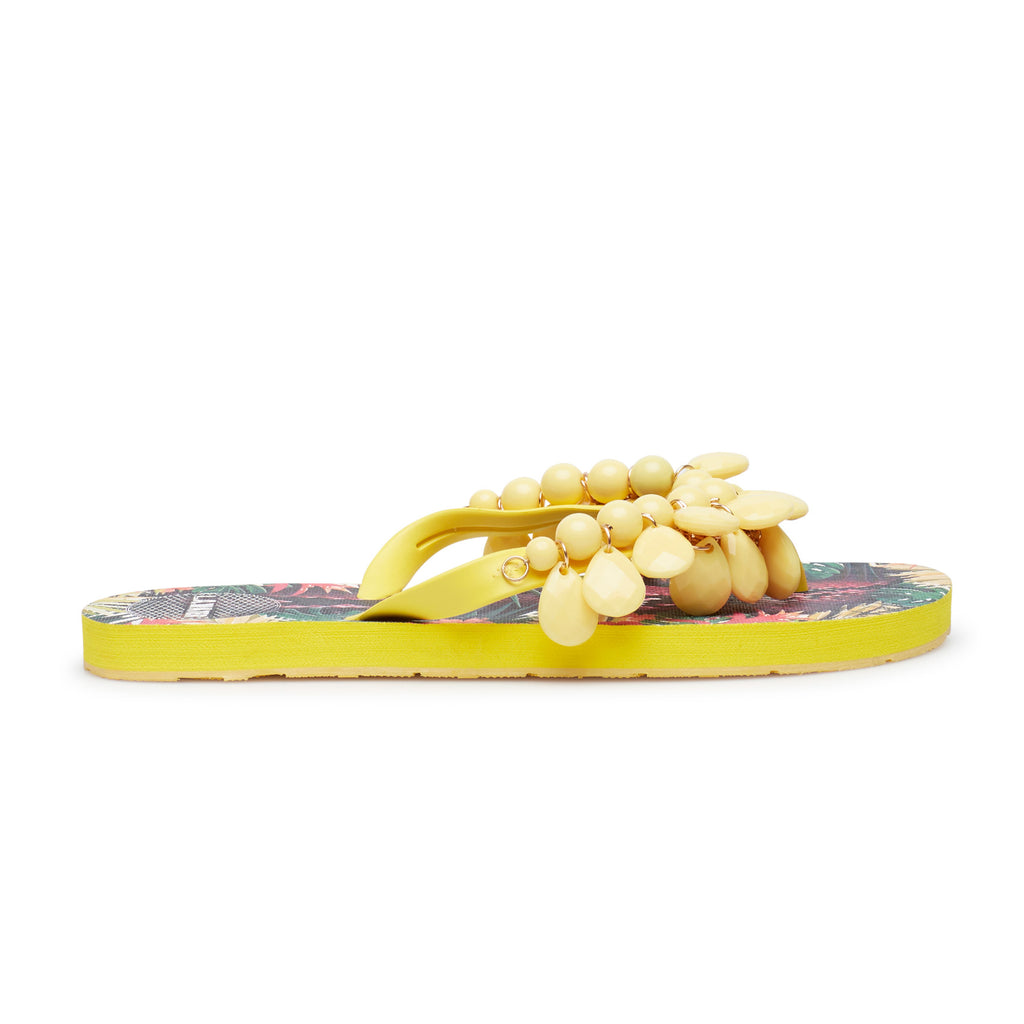YELLOW FLOWERS SLIPPERS