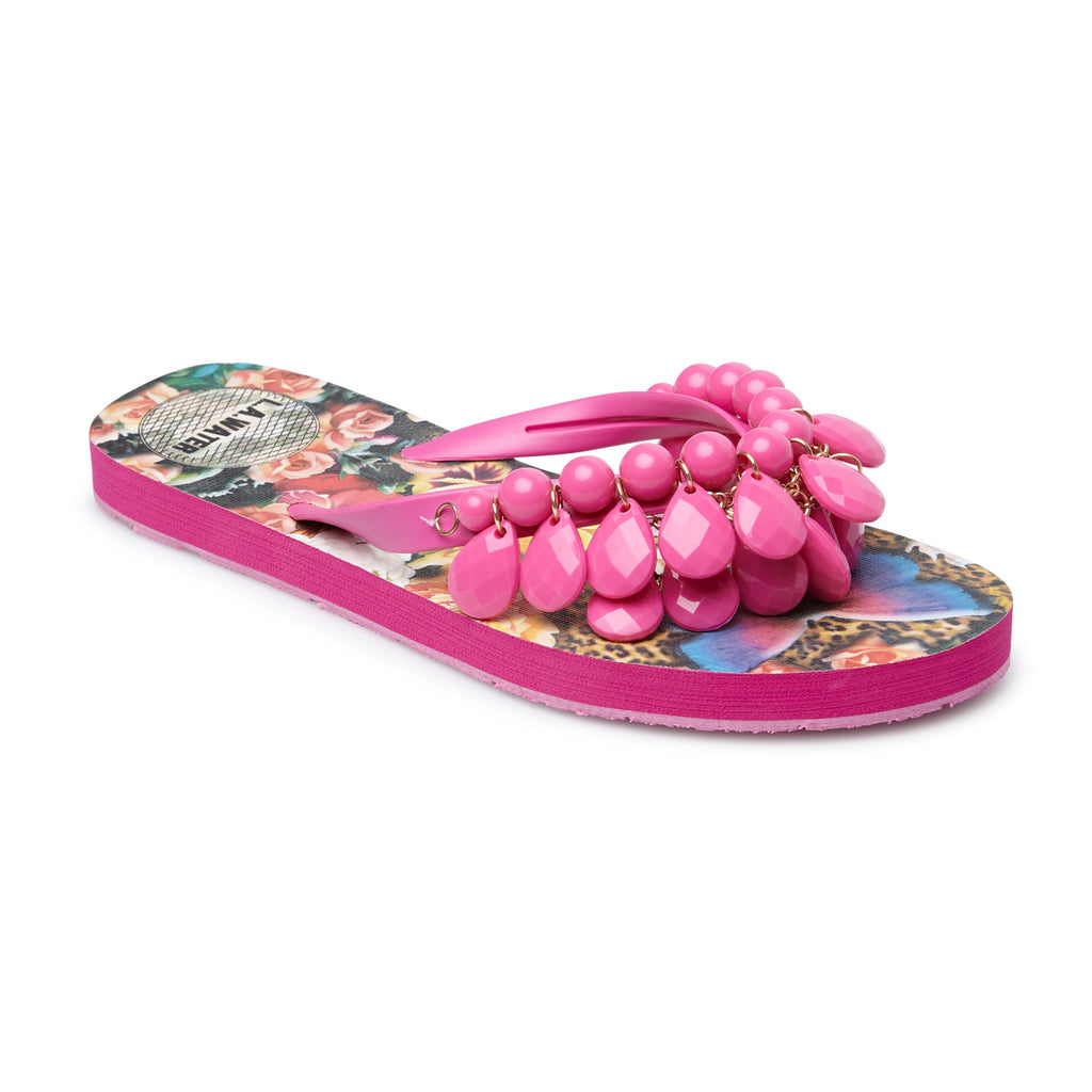 FUCHSIA FLOWERS SLIPPERS