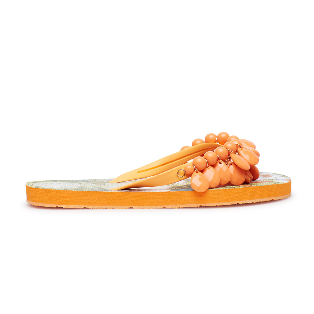 ORANGE FLOWERS SLIPPERS